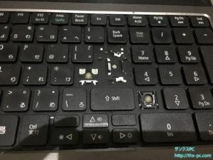 キーボード欠け